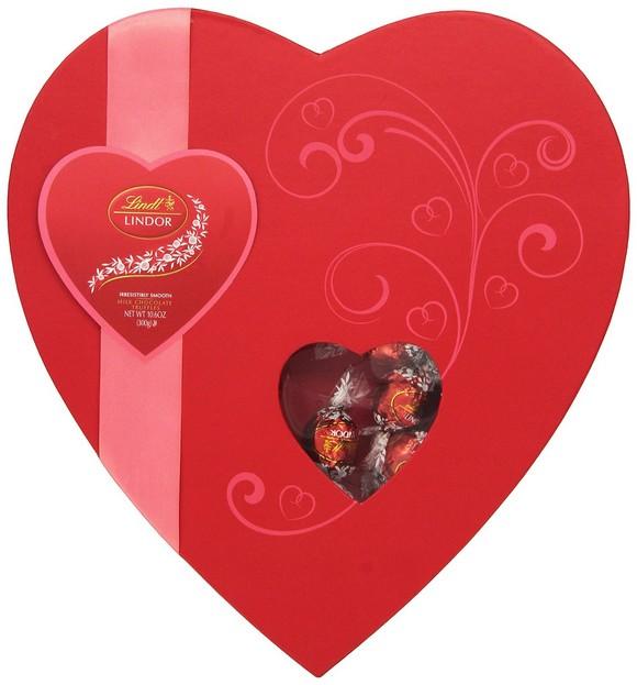 Lindor Lindt Valentine Milk Chocolate Truffle Elegance Heart, 10.6 Ounce