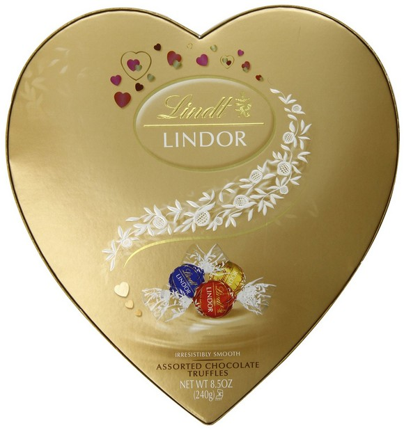 Lindt Lindor Valentine Truffles Gift Box, Assorted Heart, 8.5 Ounce