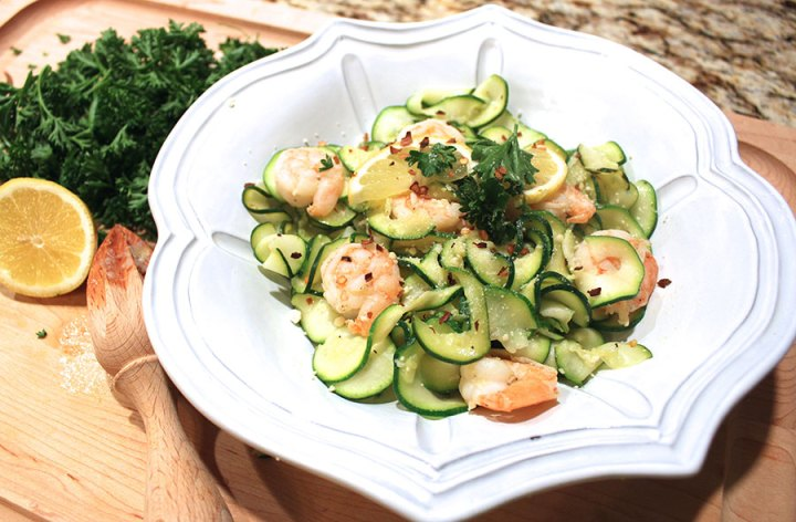 Shrimp Scampi over Zoodles recipe