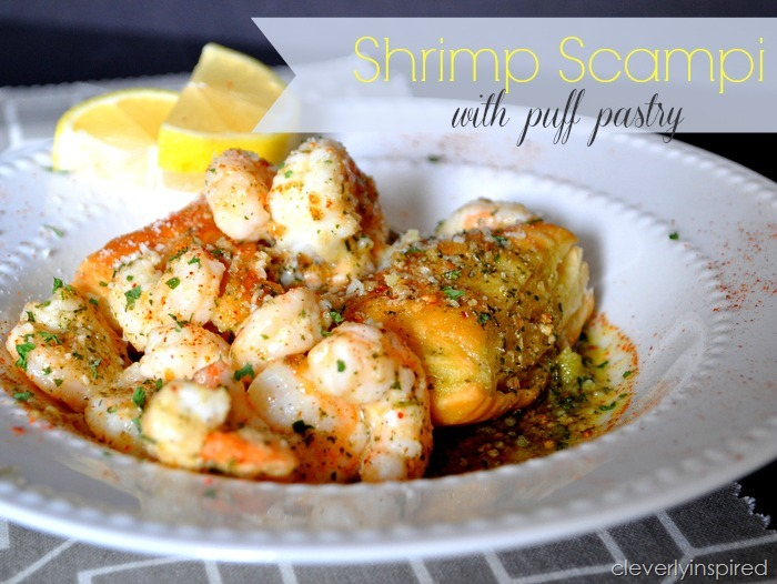 Shrimp Scampi with Puff Pastry recipe