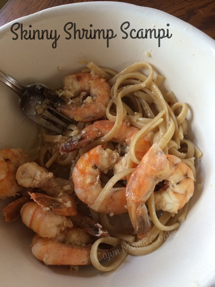 Skinny shrimp scampi recipe