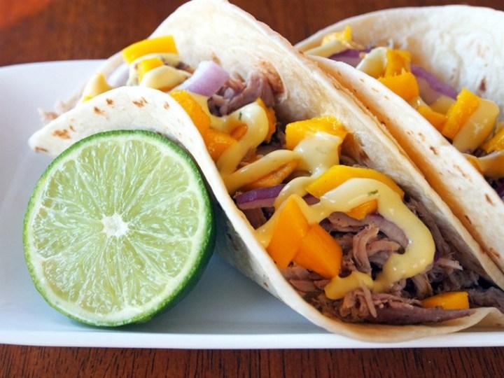 Slow Cooker Jamaican Jerk Pork Tacos