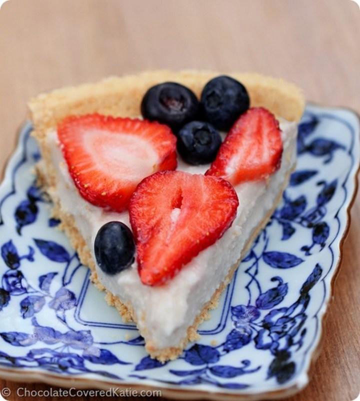 4th of July Coconut Greek Yogurt Pie