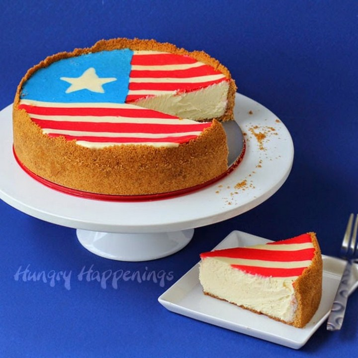 4th of July Flag Cheesecake