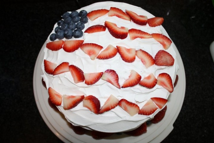 Festive 4th of July Cake