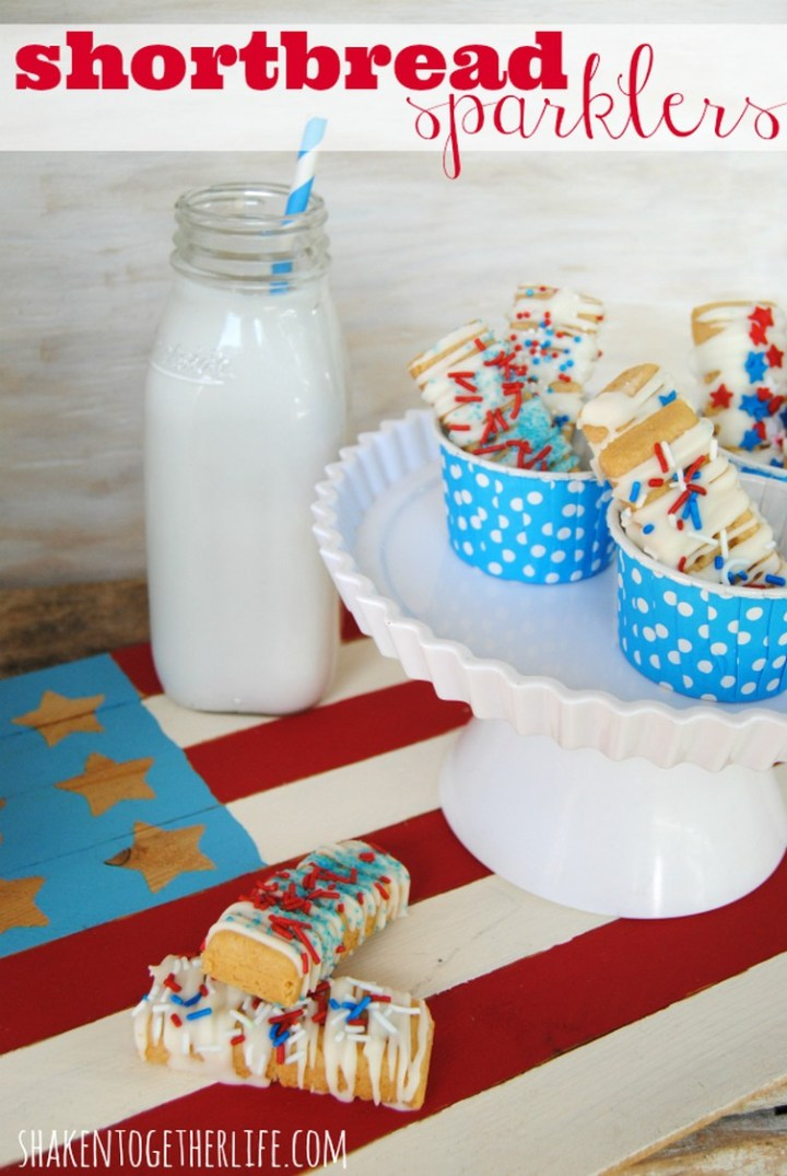 Shortbread Sparklers – Chocolate Covered Shortbread Cookies