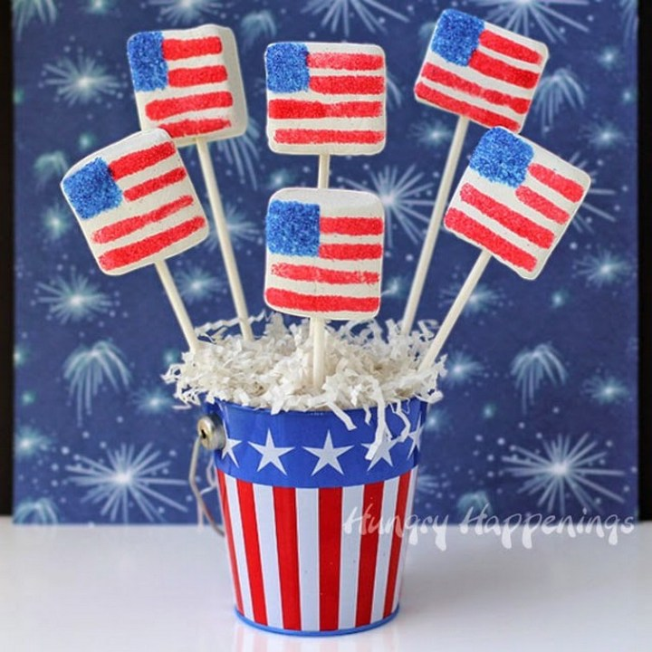 Sugar Coated Marshmallow Flags