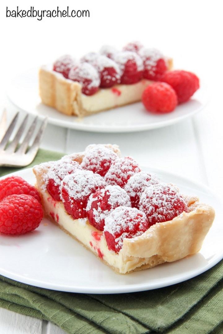 Cheesecake Tart with Fresh Raspberries