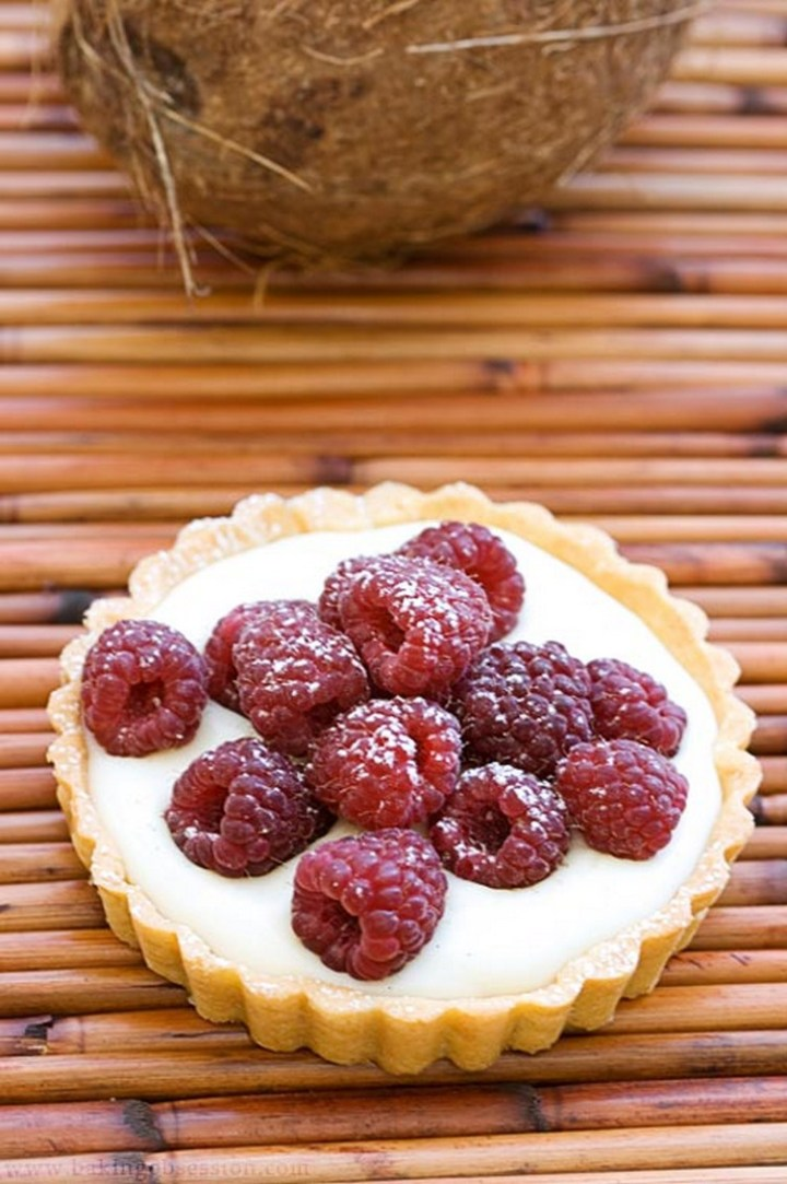 Coconut Raspberry Tarts