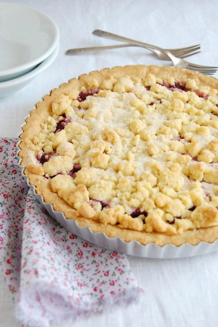 Raspberry Crumble Tart