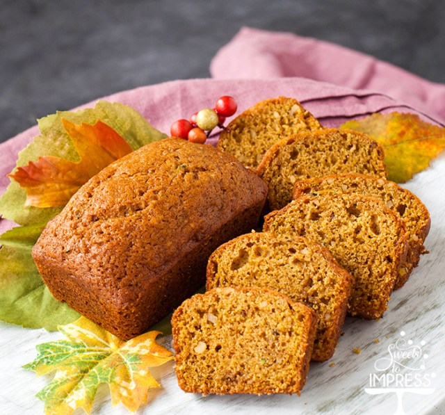 Zucchini-Pumpkin Bread Recipe