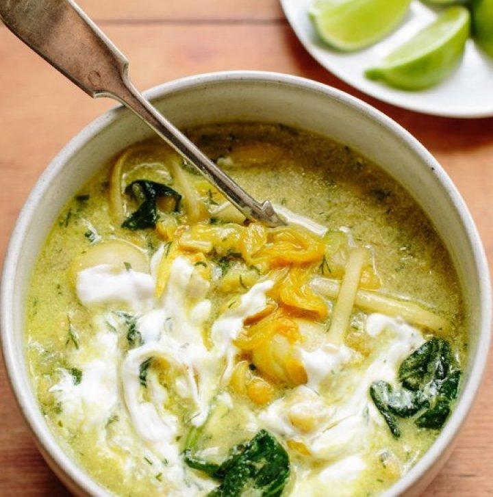 Yotam Ottolenghi's Legume (Noodle) Soup