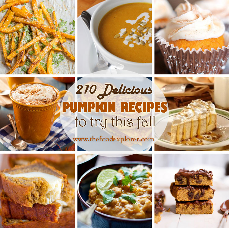 Best Pumpkin Recipes on the Net (September 2015 Edition) – 210 recipes