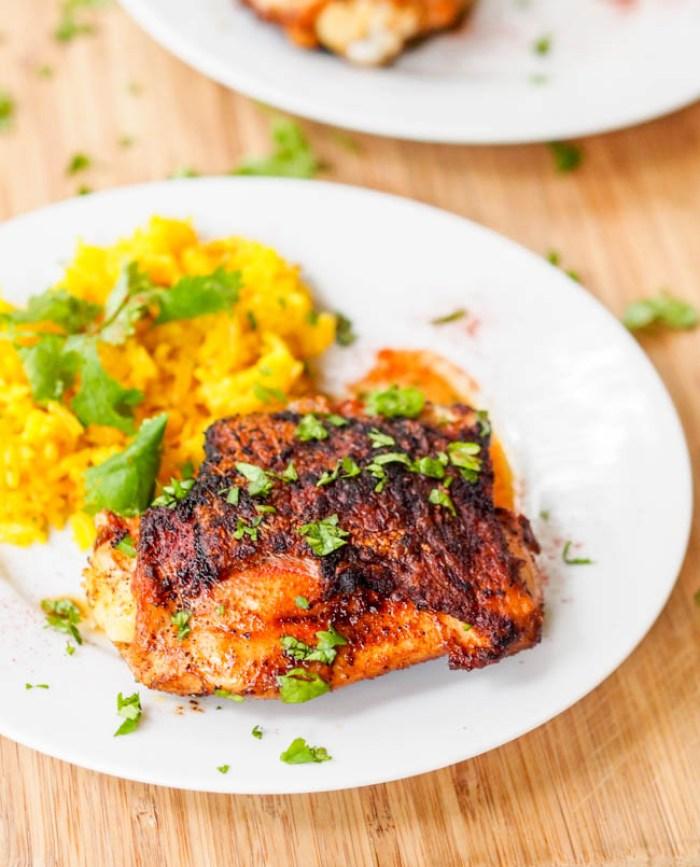 Gluten-Free Crispy Paprika Honey Chicken Thighs