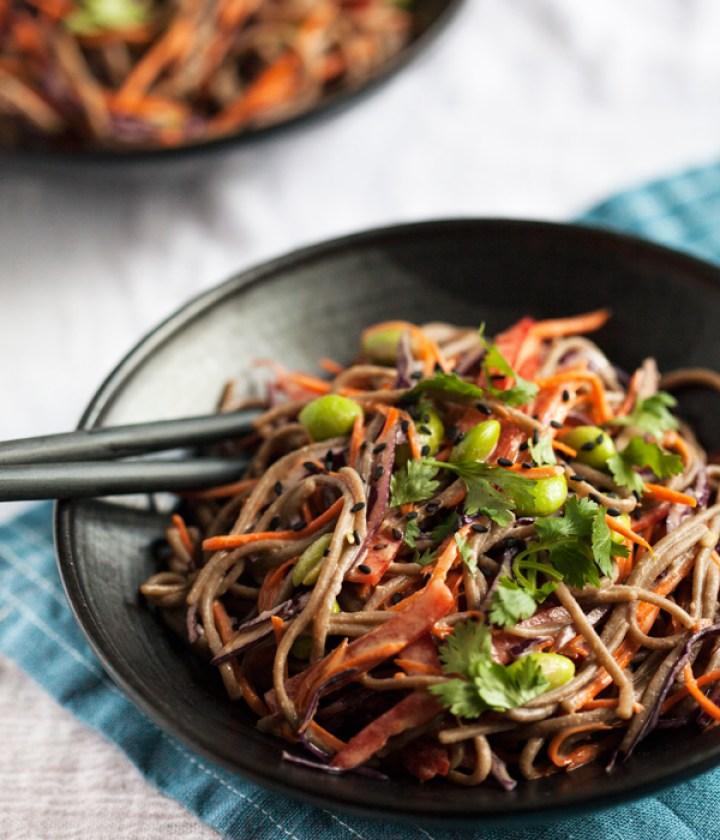 Easy Tahini and Soba Noodle Salad
