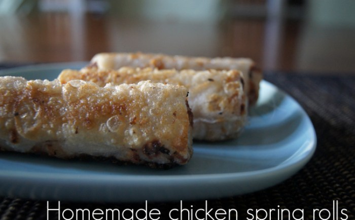 Homemade Chicken Spring Rolls