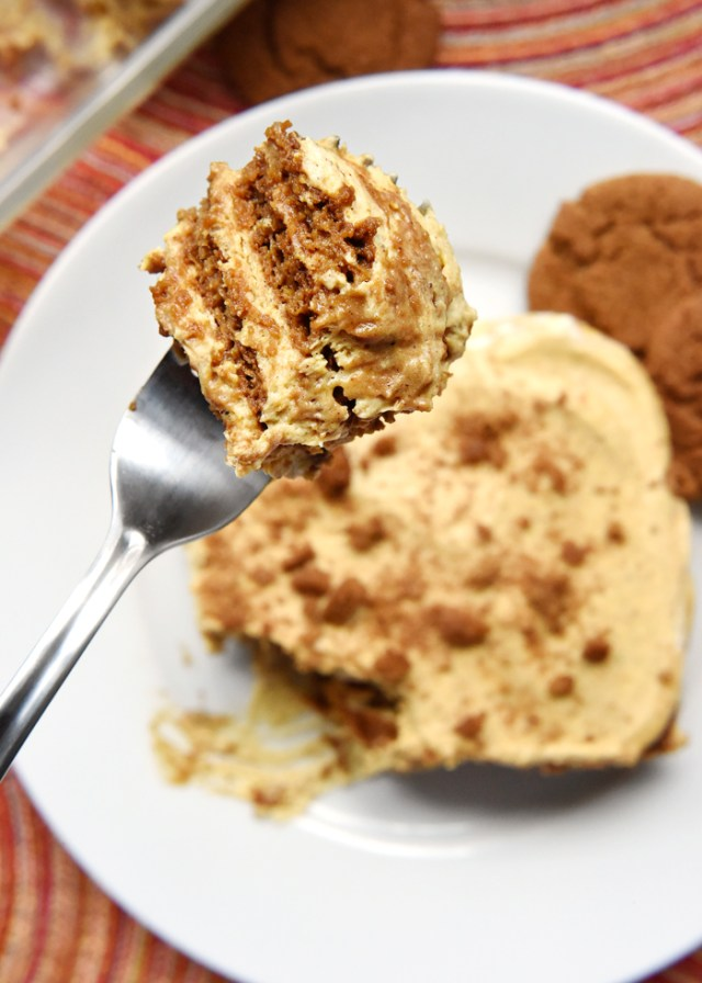 Pumpkin Gingersnap Icebox Cake