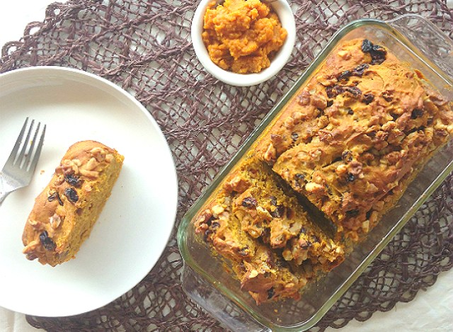 Walnut Raisin Pumpkin Bread