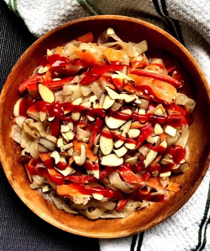 Stir-Fried Shirataki Noodles