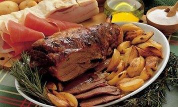 Roasted Lamb and Potatoes (Abbacchio Al Forno Con Patate) - LAZIO