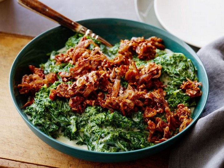 Creamed Kale with Caramelized Shallots Recipe