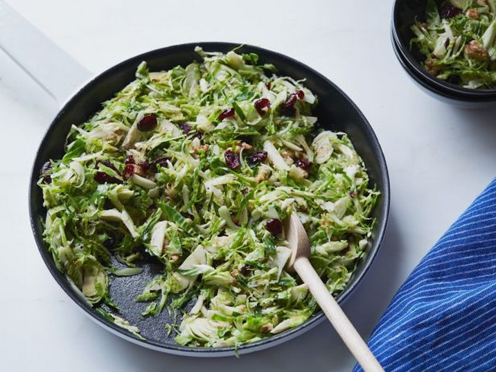 Crunchy Sweet Brussels Sprout Salad Recipe