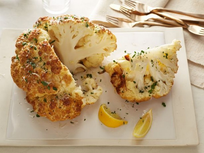 Mustard-Parmesan Whole Roasted Cauliflower Recipe