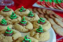 Christmas Tree Peanut Butter Blossoms recipe