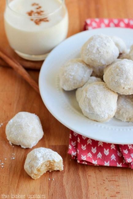 Eggnog Meltaways recipe