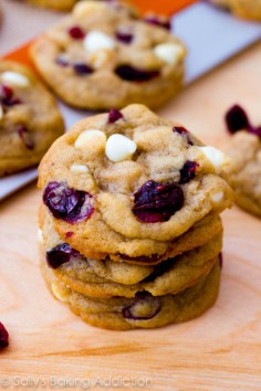Soft-Baked White Chocolate Chip Cranberry Cookies recipe
