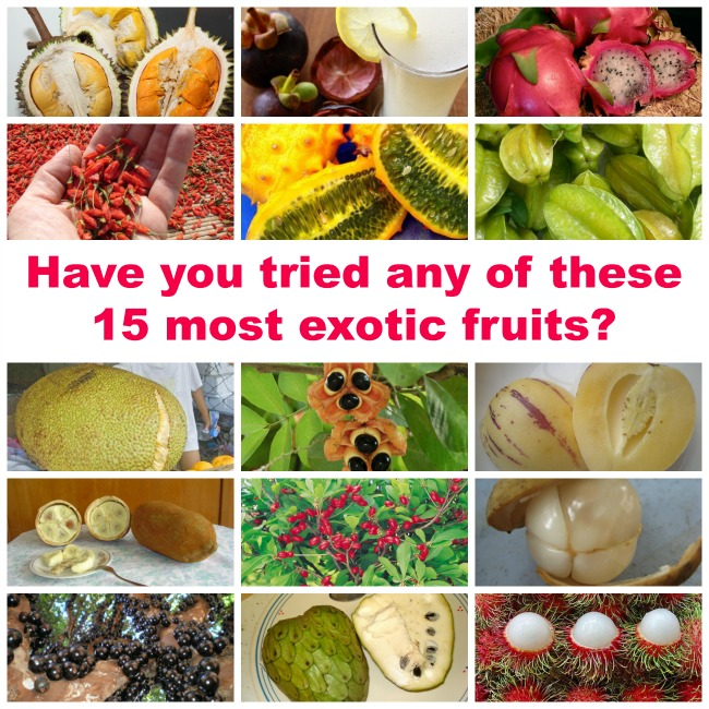 Have you tried any of these 15 most exotic fruits?