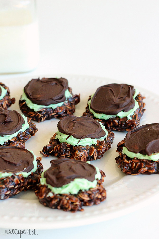 Fudgy Mint Chocolate No-Bake Cookies Recipe