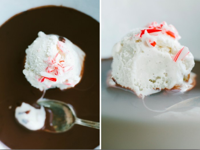 Peppermint Hot Chocolate Affogato