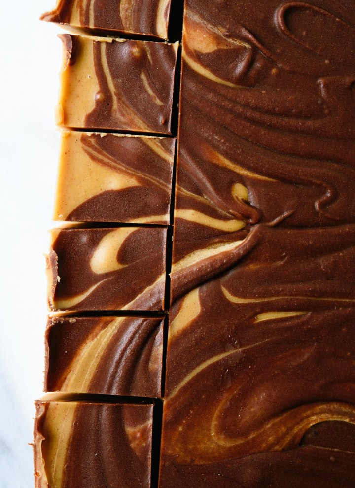 Chocolate Peanut Butter Swirl Fudge Recipe