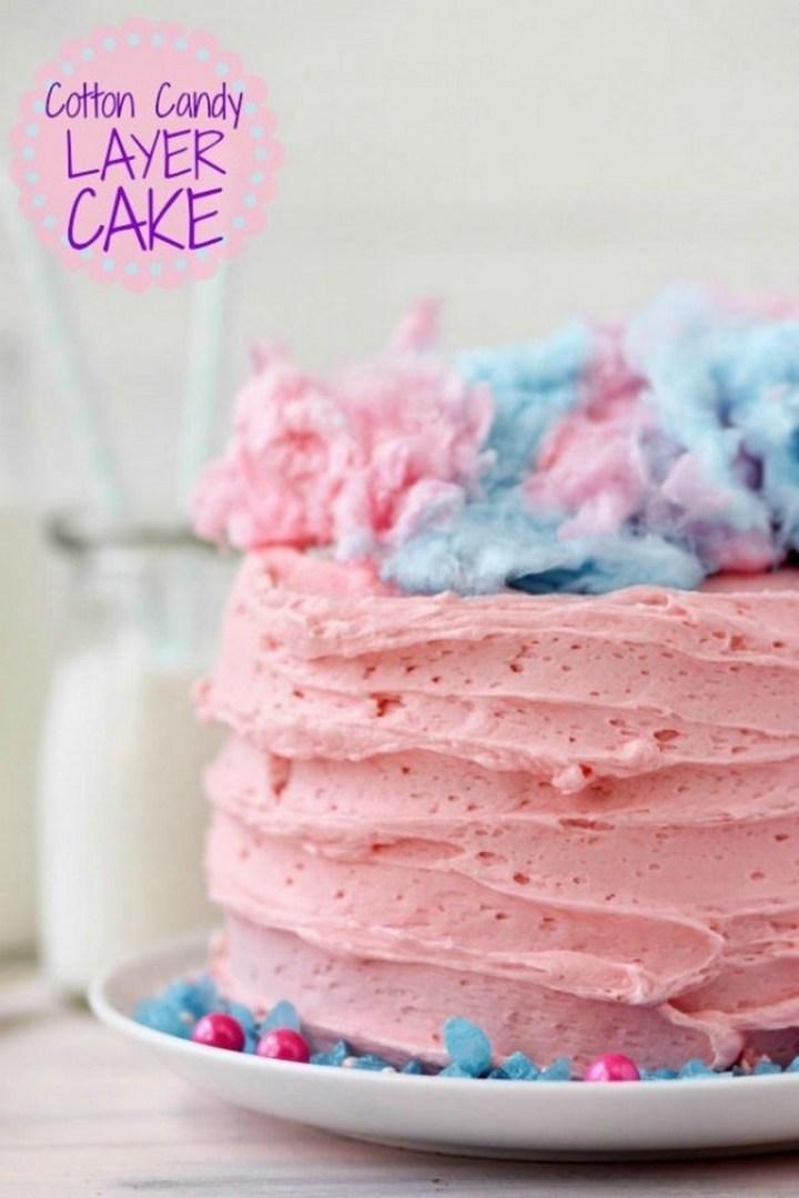 Cotton Candy Layer Cake Recipe
