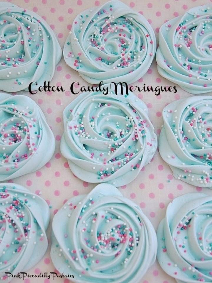 Cotton Candy Meringues Recipe