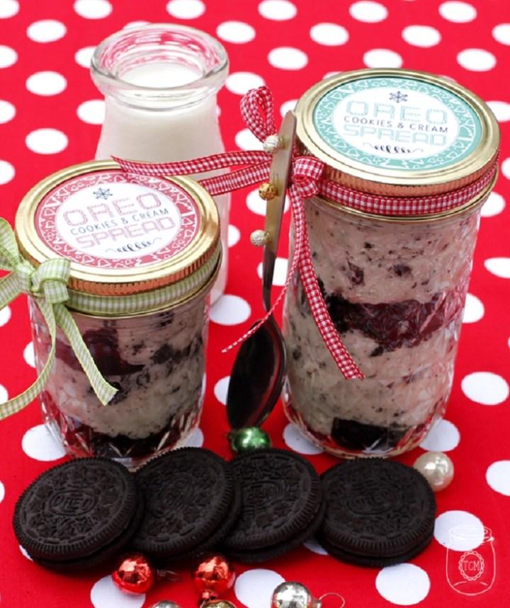 Oreo Cookies & Cream Spread Mason Jar Gift recipe