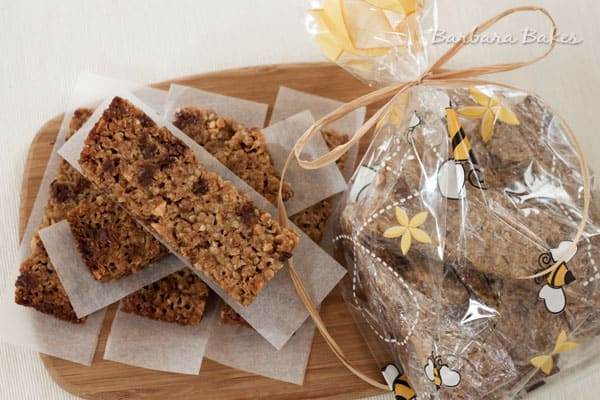 http://barbarabakes.com/2012/05/chewy-peanut-butter-chocolate-chip-granola-bars-and-a-may-is-for-miracles-giveaway/