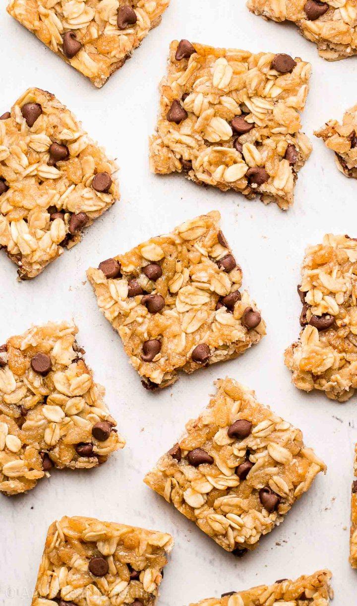http://amyshealthybaking.com/blog/2016/09/01/chocolate-chip-granola-bar-bites/