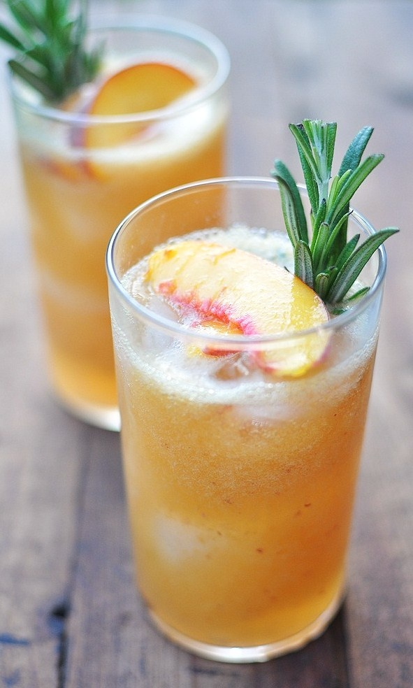 Peach Nectar And Rosemary Simple Syrup recipe