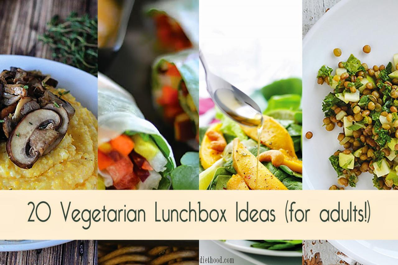 20 Vegetarian Lunchbox Ideas for Adults – Food Bloggers Recipe Roundup