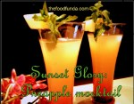 Sunset Glory: Pineapple mocktail