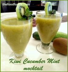 Kiwi Cucumber Mint Mocktail
