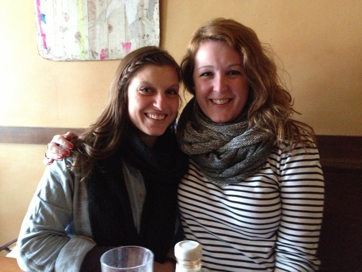 Krista and I so happy to be reunited!