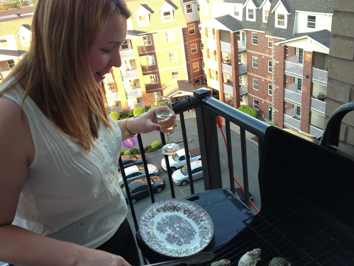 Gabby on grill