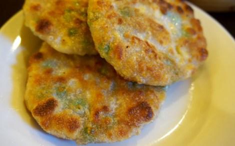 Pan Fried Crispy Corn Cakes