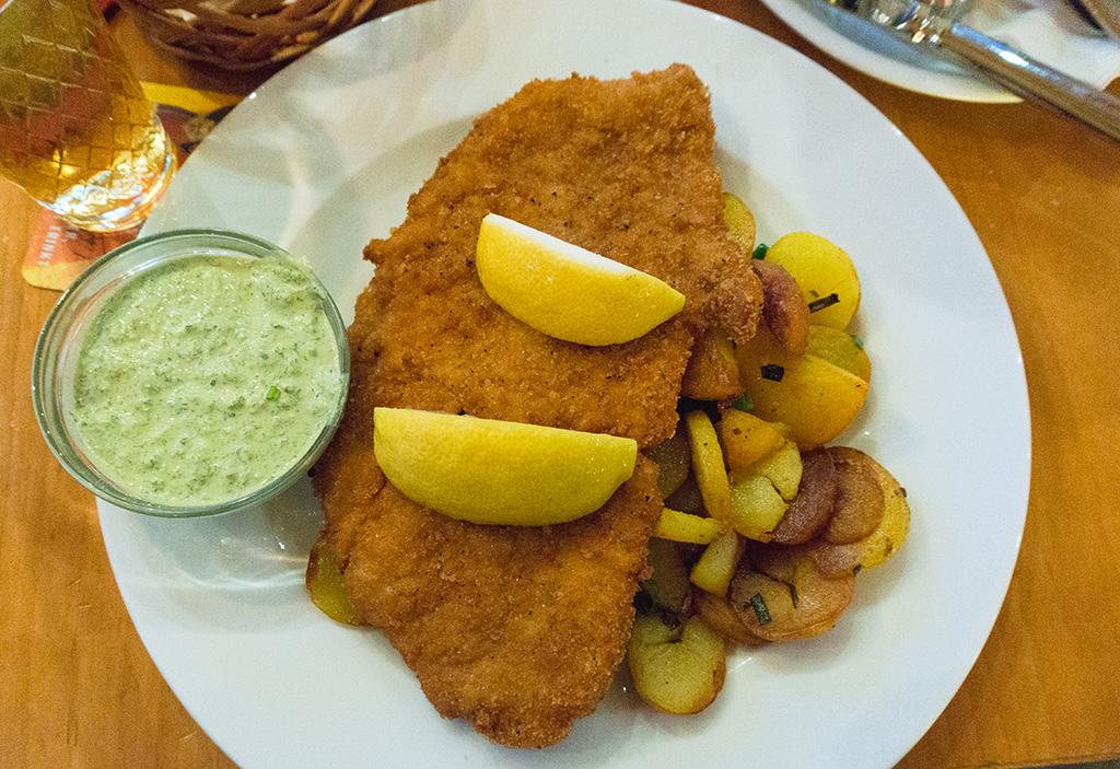 Pork Schnitzel 24 Hours in Frankfurt.The Food Girl in Town