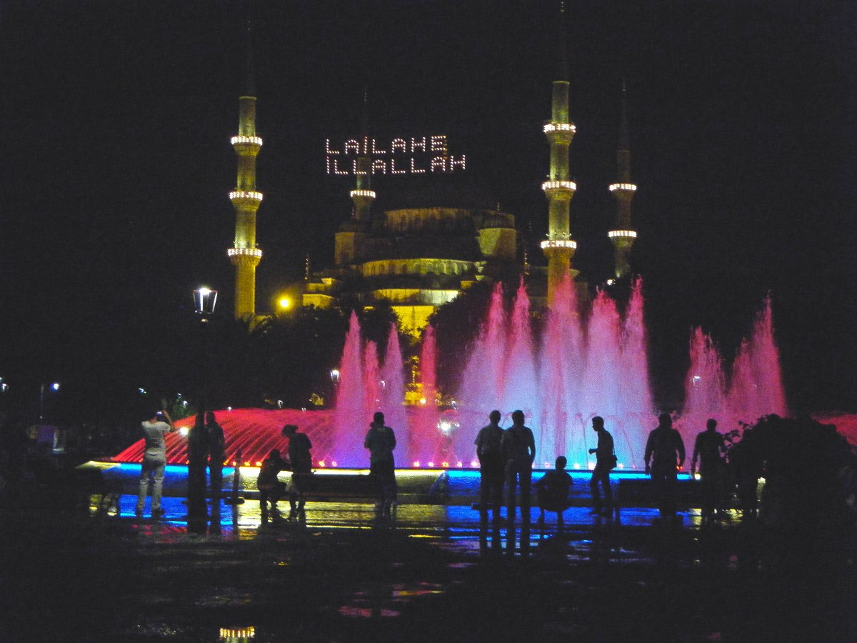 The Blue Mosque in Istanbul during Ramazan.