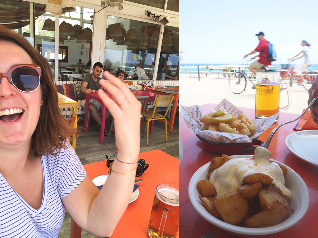 The Food Girl in Town.Barcelona Beach Food