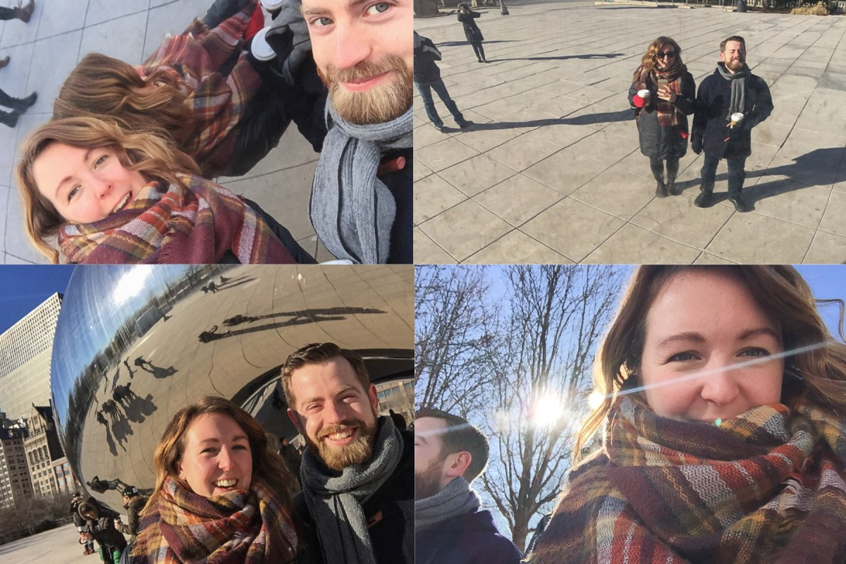 72 Hours in Chicago selfie collage